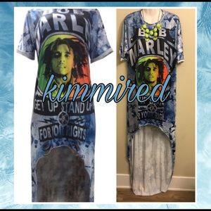 Tops - 🆕 Blue Bob Marley Hi Lo Dress/Top ~ 3XL ~ NWOT